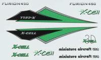 130-472 Furion Vinyl Canopy Decal Sheet-Green