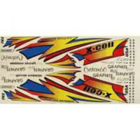 103-99 Canopy Color Decal Striping Sheet X-Cell 60, Gas,...