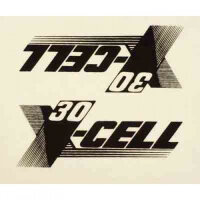 0661 X-Cell 30 Decal Logo Sheet - Pack of 2
