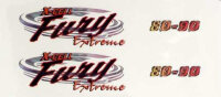 120-20 Canopy Fury Extreme Logo Decal Sheet - Pack of 2