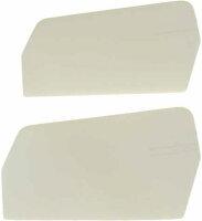 0871-5 Flybar Paddles 3-D Plastic White 20gr.-M4 - Pack of 2