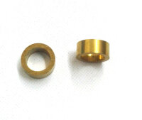 """122-28 m3 x .125"""" x .79 Brass Spacer - Pack of 2"""