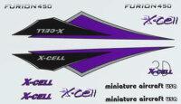 130-476 Furion Vinyl Canopy Decal Sheet-Purple