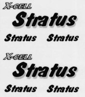 126-75 Stratus Decal Logo Sheet - Pack of 1