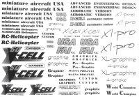 3777 XL-Pro Decal Logo Sheet - Pack of 1